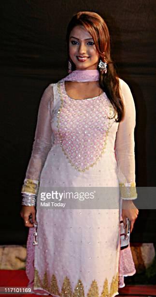 Adaa Khan during the Gold Awards 2011 held at Film CityGoregaon in Mumbai on June 18 2011