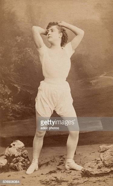Adah Menken . American actress, who was the last mistress of Alexandre Dumas P��re. Ca. 1860.