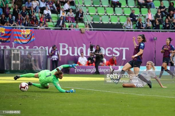 AdaHegerberg of Olympique Lyonnais scores a goal to make it 20 during the UEFA Women's Champions League Final between Olympique Lyonnais v FC...