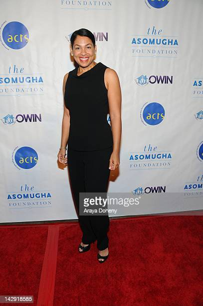 Adai Lamar arrives at the 6th Annual Asomugha Foundation Gala 'Service Matters' at Millennium Biltmore Hotel on April 14 2012 in Los Angeles...
