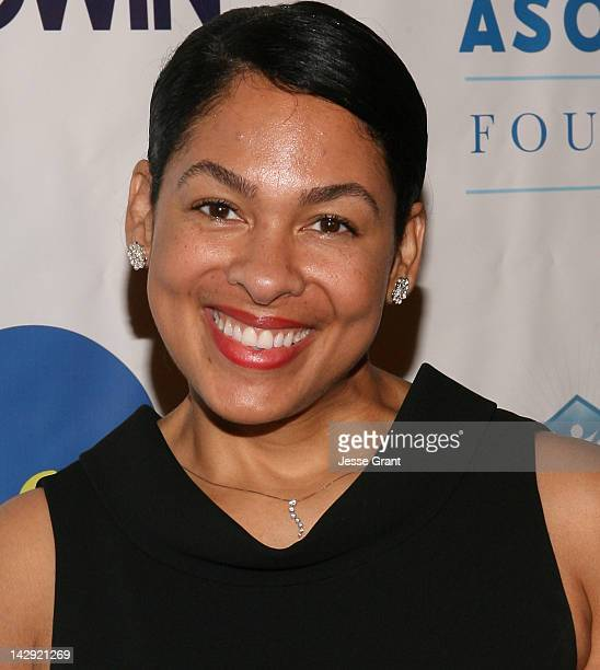Adai Lamar arrives at the 6th Annual Asomugha Foundation Gala 'Service Matters' Gala held at the Millennium Biltmore Hotel on April 14 2012 in Los...