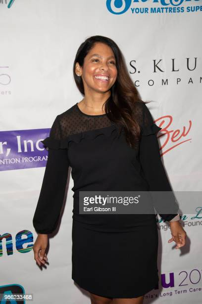 Adai Lamar attends the 2018 Imagine Cocktail Party To Benefit Jenesse Center at Wilshire Country Club on June 27 2018 in Los Angeles California