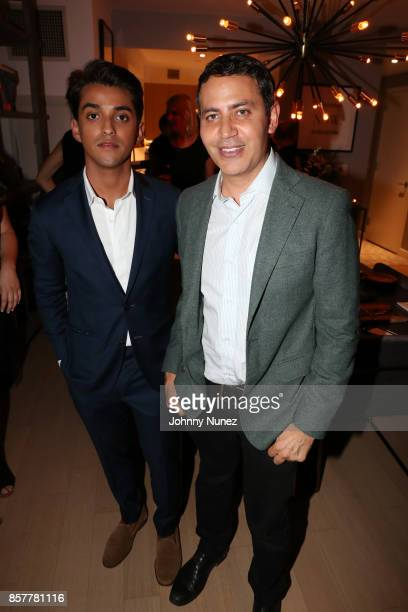 Adal Gutierrez and Gabriel RiveraBarraza attend the Mercado Global PreCelebration Gathering at Private Residence on October 4 2017 in New York City