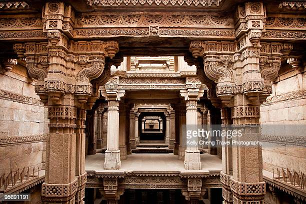 adalaj wav step well - ahmedabad stock pictures, royalty-free photos & images