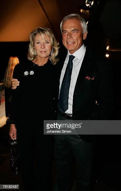 Adalbert Lhota and Marina Swarovski attend the Kitzrace Party, January 27 in Kitzbuehel, Austria.