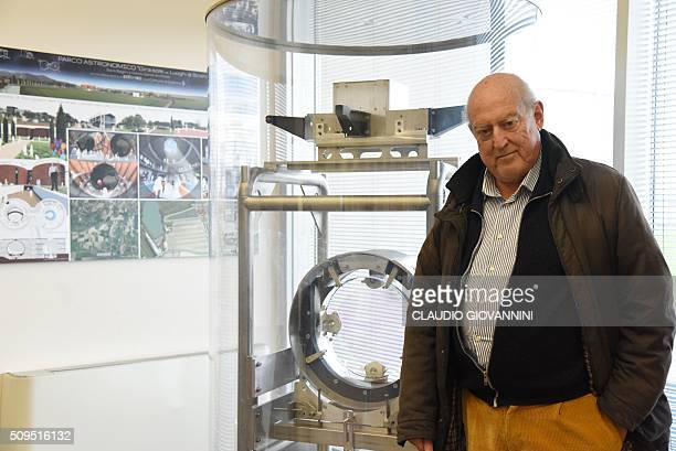 Adalberto Giazotto the Italian scientist that together with Alain Brillet created the the Virgo detector for gravitional waves poses on February 9...