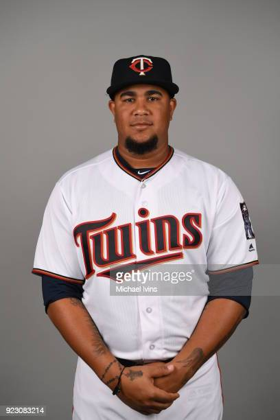 Adalberto Mejía of the Minnesota Twins poses during Photo Day on Wednesday February 21 2018 at CenturyLink Sports Complex in Fort Myers Florida