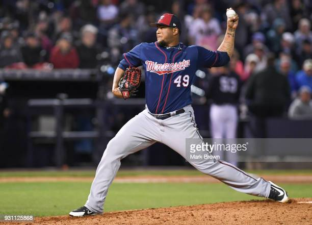 Adalberto Mejia of the Minnesota Twins pitches in the sixth inning during the game against the New York Yankees at George M Steinbrenner Field on...