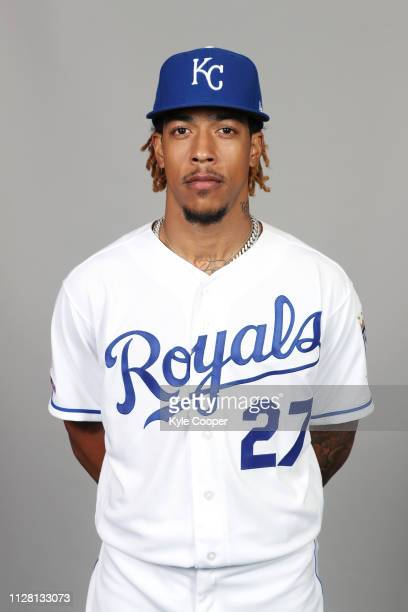 Adalberto Mondesi of the Kansas City Royals poses during Photo Day on Thursday February 21 2019 at Surprise Stadium in Surprise Arizona