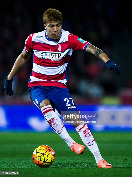 Adalberto Penaranda of Granada CFduring the La Liga match between Granada CF and Real Madrid CF at Estadio Nuevo Los Carmenes on February 7 2016 in...