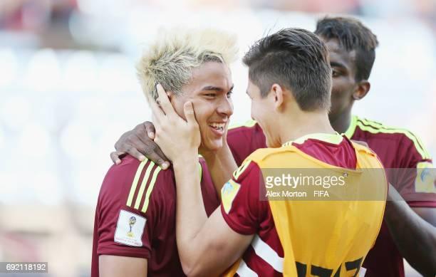 Adalberto Penaranda of Venezuela celebrates after scoring their first goal during the FIFA U20 World Cup Korea Republic 2017 Quarter Final match...