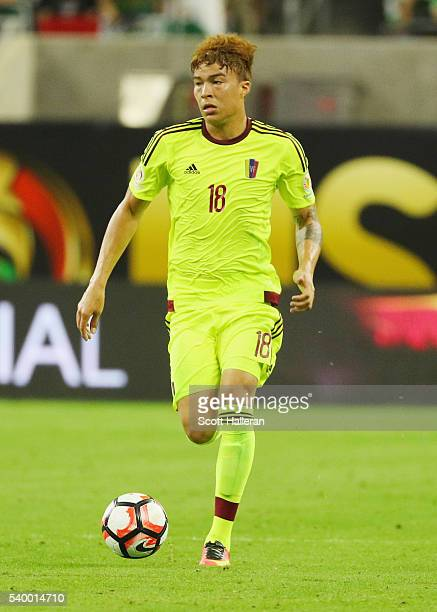 Adalberto Penaranda of Venezuela in action during the 2016 Copa America Centenario Group match between Mexico and Venezuela at NRG Stadium on June 13...