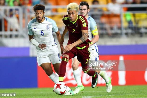 Adalberto Penaranda of Venezuela in action during the FIFA U20 World Cup Korea Republic 2017 Final match between Venezuela and England at Suwon World...
