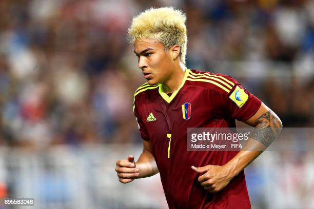 Adalberto Penaranda of Venezuela looks on during the FIFA U20 World Cup Korea Republic 2017 Final match between Venezuela and England at Suwon World...
