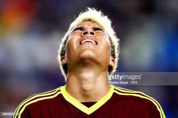Adalberto Penaranda of Venezuela reacts during the FIFA U20 World Cup Korea Republic 2017 Final match between Venezuela and England at Suwon World...