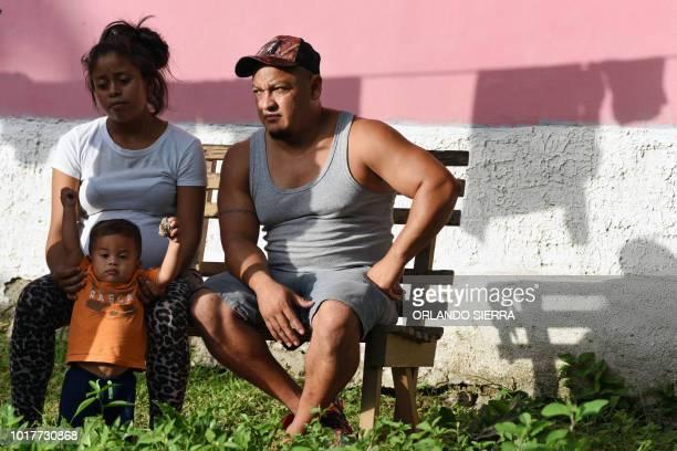Adalicia Montesinos Rolando Antonio Bueso Castillo and their oneyearold son Johan are pictured at their house in La Libertad municipality Comayagua...