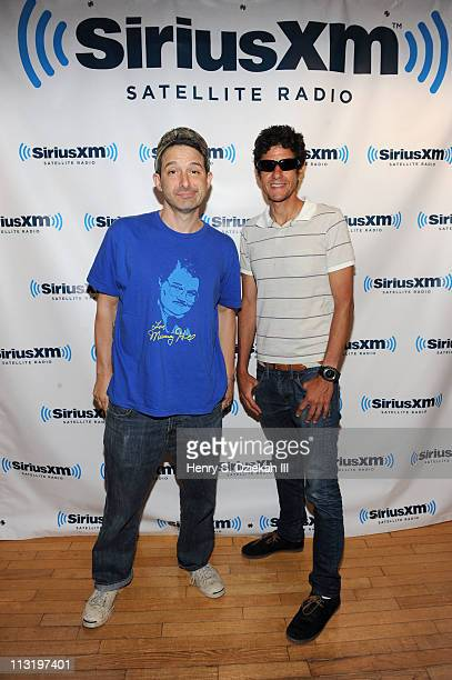 Adam 'AdRock' Horovitz and Mike D of the Beastie Boys visit SiriusXM Studio on April 26 2011 in New York City