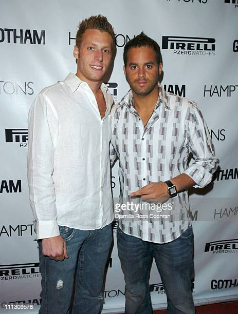 Adam Alpert and Zev Norotsky during Pirelli Watches and Hamptons Magazine Host the Golf Classic Party at Cain in Southampton, NY, United States.