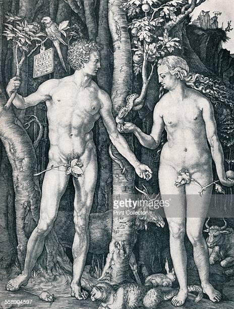 'Adam and Eve' 1504 From Durer Des Meisters Gemalde Kupferstiche und Holzschnitte in 471 Abbildungen [Stuttgart und Leipzig Deutsch VerlagsAnsalt...