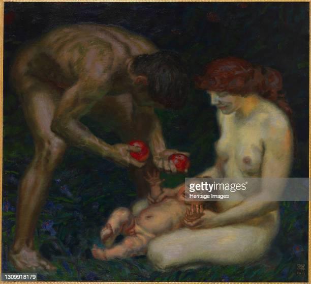 Adam and Eve , 1912. Private Collection. Artist Stuck, Franz, Ritter von . .