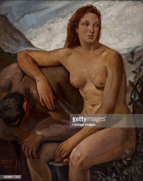 Adam and Eve, 1930. Found in the collection of Musei Civici, Vicenza. Artist Oppi, Ubaldo . .