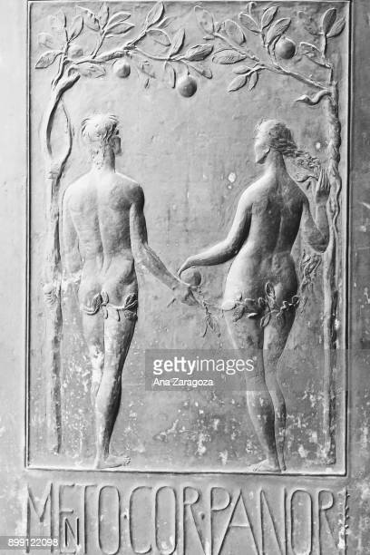 Adam and Eve at the door of the Cathedral of Palermo