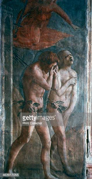 'Adam and Eve banished from Paradise' c1427 Found in the Brancacci Chapel Santa Maria del Carmine Florence Italy