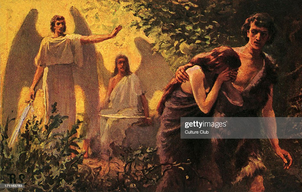 Adam and Eve cast out of Garden of Eden - Bible : News Photo