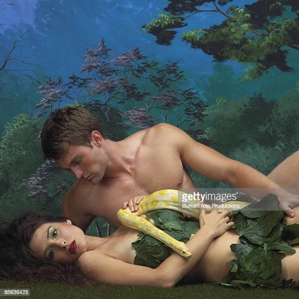 Adam and Eve in Garden of Eden