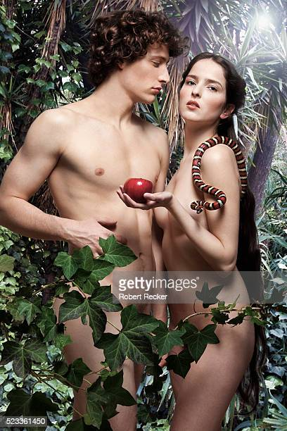 Adam and Eve in garden