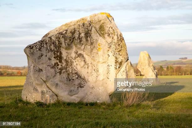 Adam and Eve standing stones Longstone Cove Beckhampton Avenue Avebury Wiltshire England UK