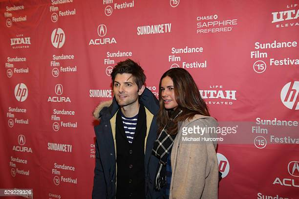 """Adam and Naomi Scott attend the """"Sleeping with Other People"""" premiere at the 2015 Sundance Film Festival"""