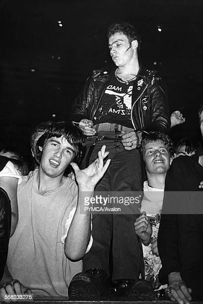 Adam and the Ants crowd Three Punks UK 1980's