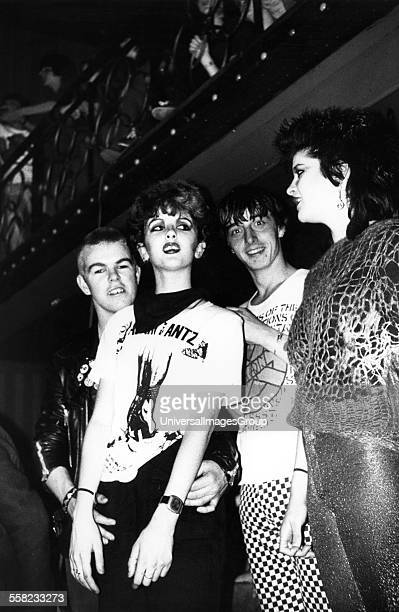Adam and the Ants punk crowd Two girls Two men UK 1980's