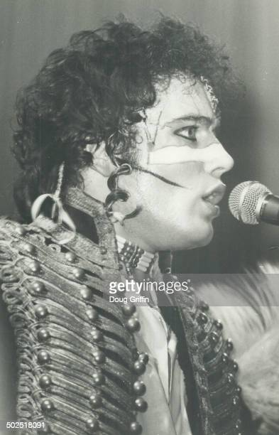 Adam And The Ants The video feature on Tuesday night at klub Domino 1 Isabella St