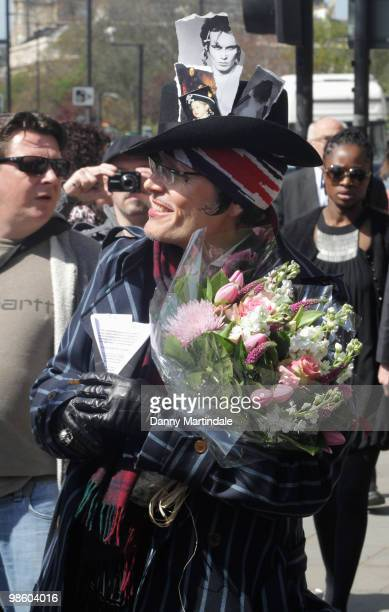 Adam Ant attends the funeral of Malcolm McLaren on April 22 2010 in north London England The man often called the 'architect of punk' died of cancer...