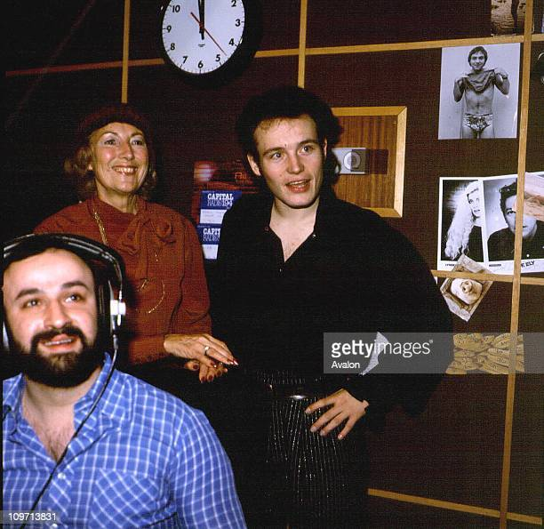 Adam Ant British Singer and Songwriter Lead Singer of the group 'Adam and the Ants' And British singer Dame VERA LYNN Forces Sweetheart during World...