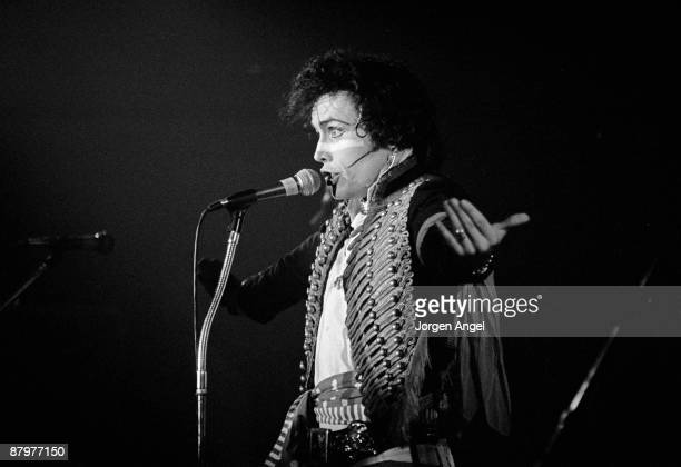 Adam Ant from Adam and The Ants performs live on stage in Copenhagen Denmark in 1981