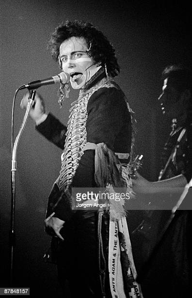 Adam Ant from Adam The Ants performs live on stage in Copenhagen Denmark in 1981