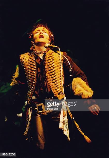 Adam Ant of Adam and The Ants performs on stage at The Dominion Theatre on March 28th 1981 in London United Kingdom