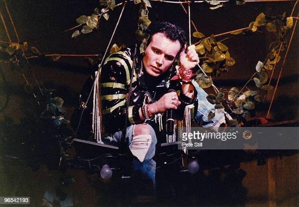 Adam Ant of Adam and the Ants performs on stage on his solo concert tour at Hammersmith Odeon on September 27th 1985 in London United Kingdom
