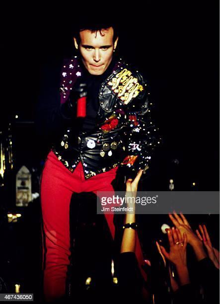 Adam Ant performs in Minnesota in 1990