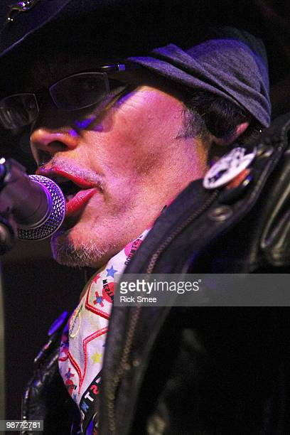 Adam Ant performs on stage at Scala on April 30 2010 in London England