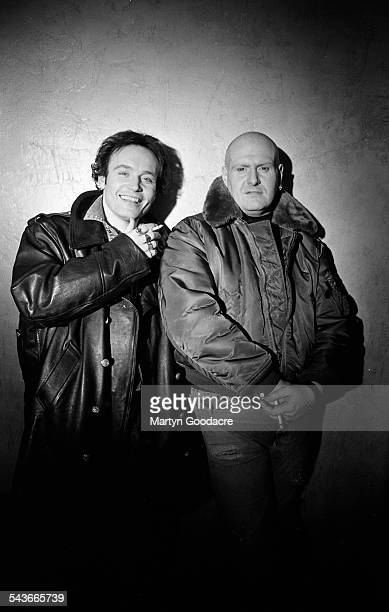 Adam Ant with guitarist and songwriting partner Marco Pirroni portrait London United Kingdom 1992