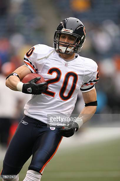 Adam Archuleta of the Chicago Bears warms up before the game against the Seattle Seahawks at Qwest Field on November 18 2007 in Seattle Washington