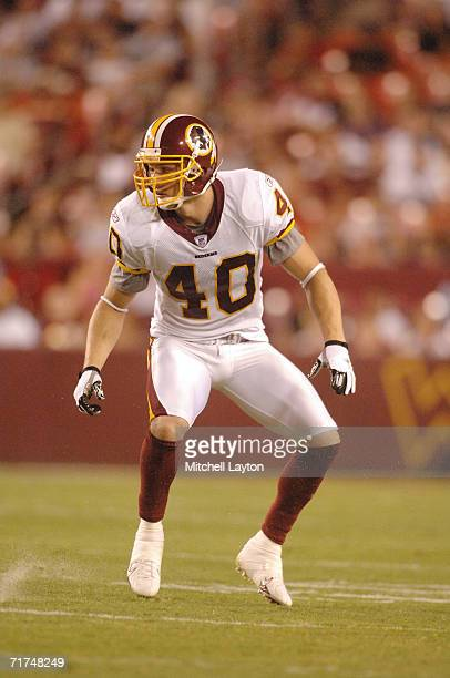 Adam Archuleta of the Washington Redskins during an exbition football game against the New York Jets August 19 2006 at FedExField in Landover Maryland