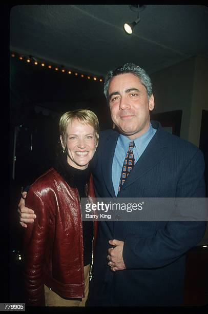 Adam Arkin poses for a photograph with his wife Phyllis Lyons February 16, 2000 at Mann's Bruin Theater in Los Angeles, California. They are...