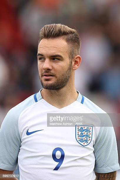 Adam Armstrong of England during the International friendly match between England U20 and Brazil U20 at Aggborough Stadium on September 4 2016 in...