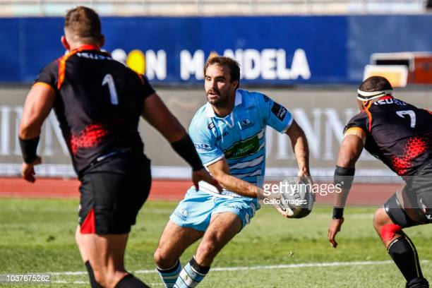 Adam Ashe of Glasgow Warriors during the Guinness Pro14 match between Isuzu Southern Kings and Glasgow Warriors at Nelson Mandela Bay University on...
