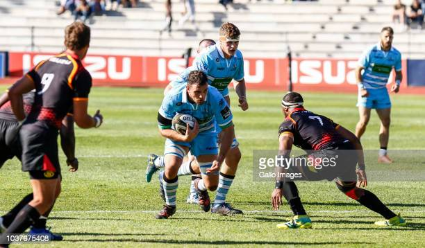 Harlon Klaasen of the Southern Kings scores a try during the Guinness Pro14 match between Isuzu Southern Kings and Glasgow Warriors at Nelson Mandela...